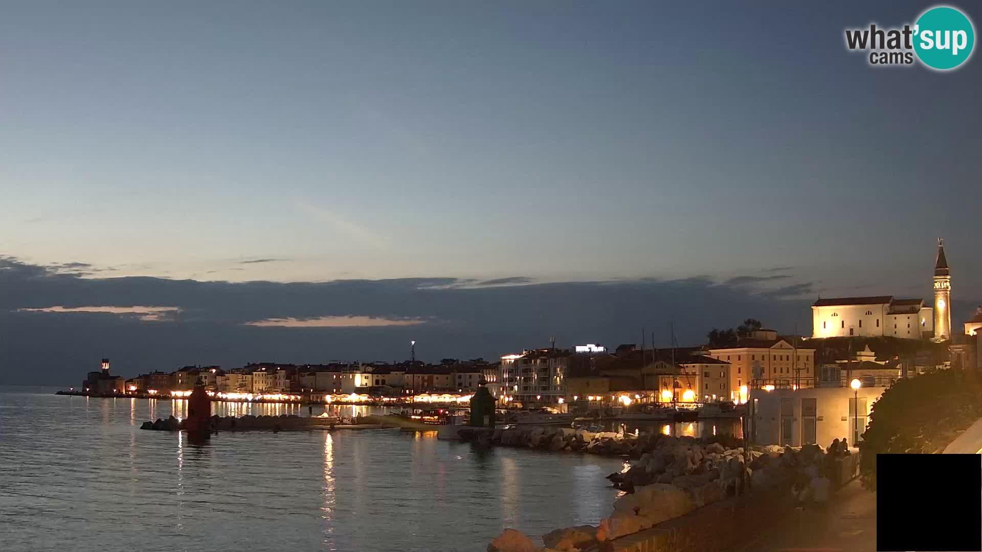 Piran – view to Punta and Mandrač