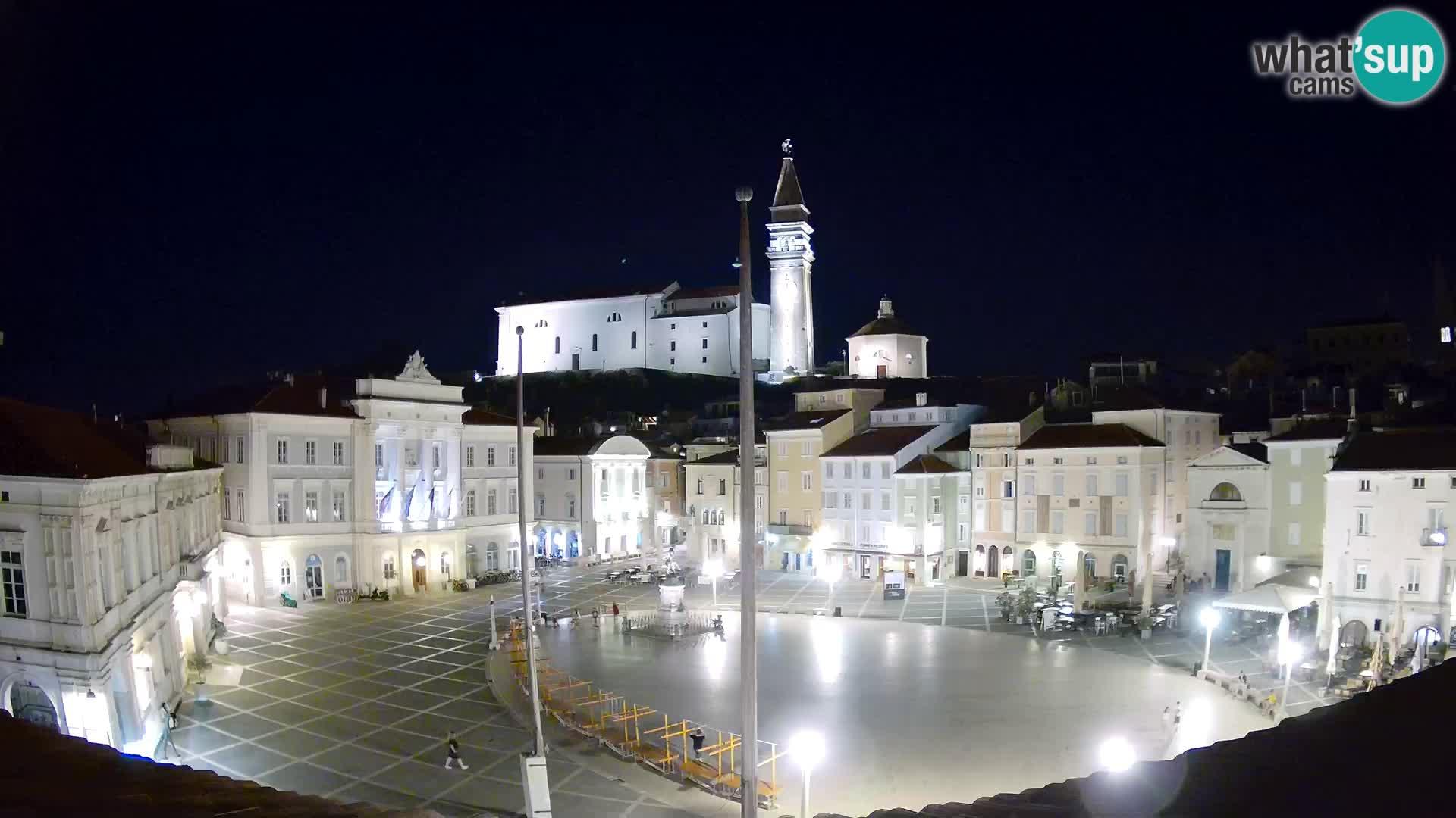 Webcam live Piran – Tartini platz