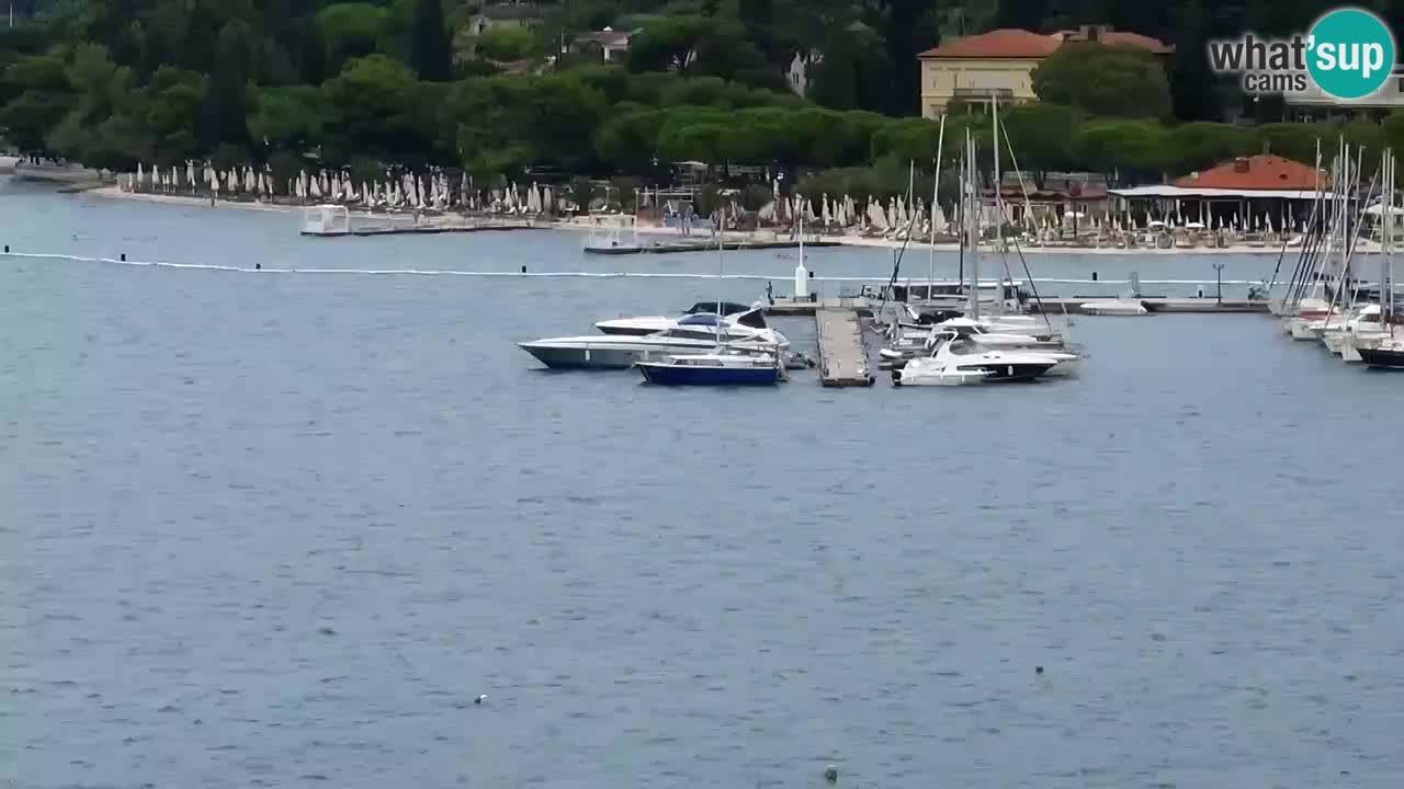 Web kamera Portorož plaža – Pogled sa restorana Bungalow