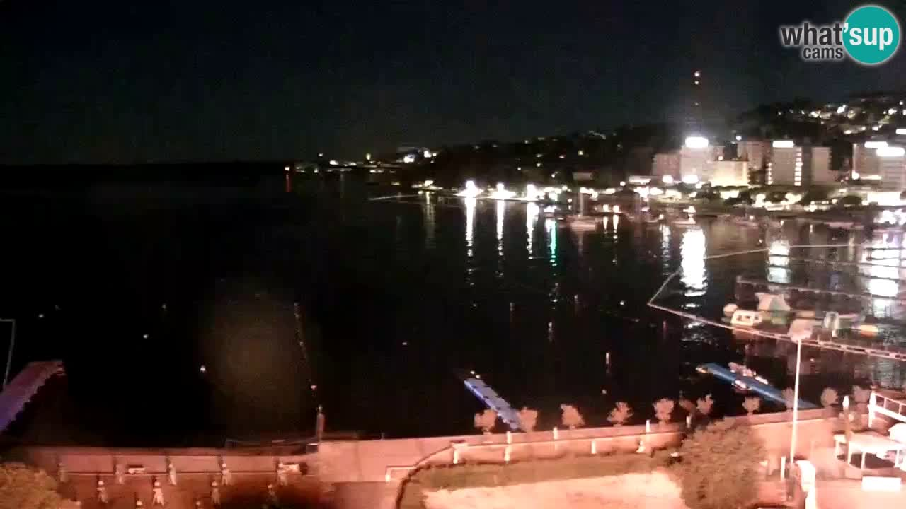 Spletna kamera Portorož plaža – Pogled z restavracije Bungalow