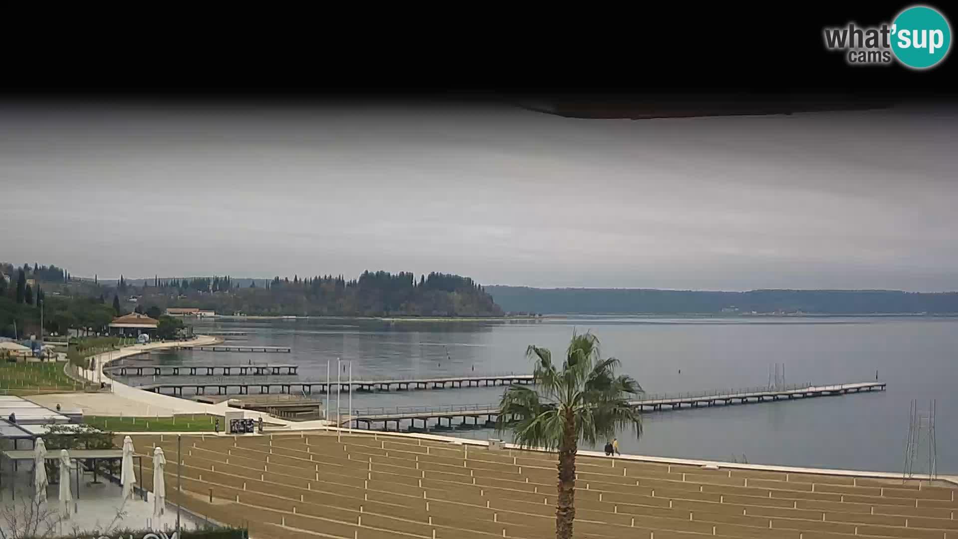 Spiaggia di Portorose live webcam