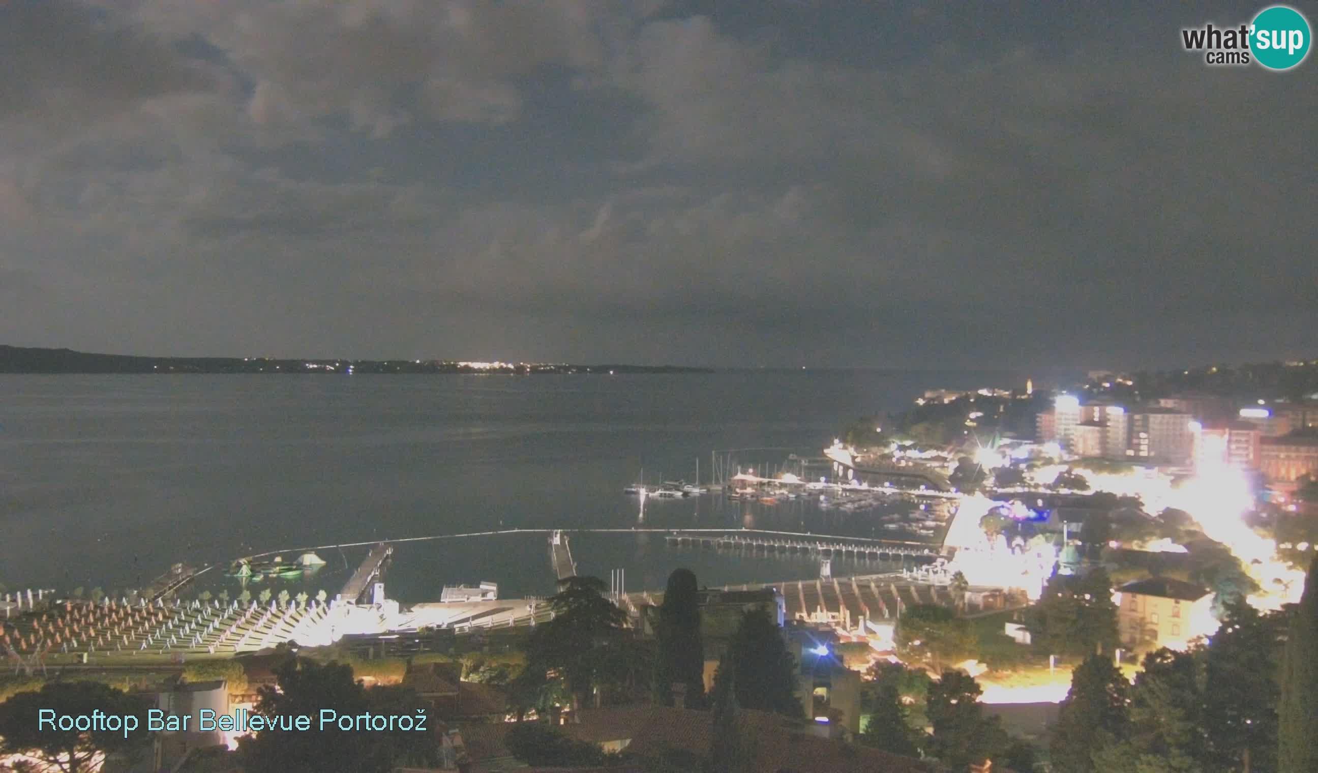 Portorož web kamera – pogled sa Villa Bellevue