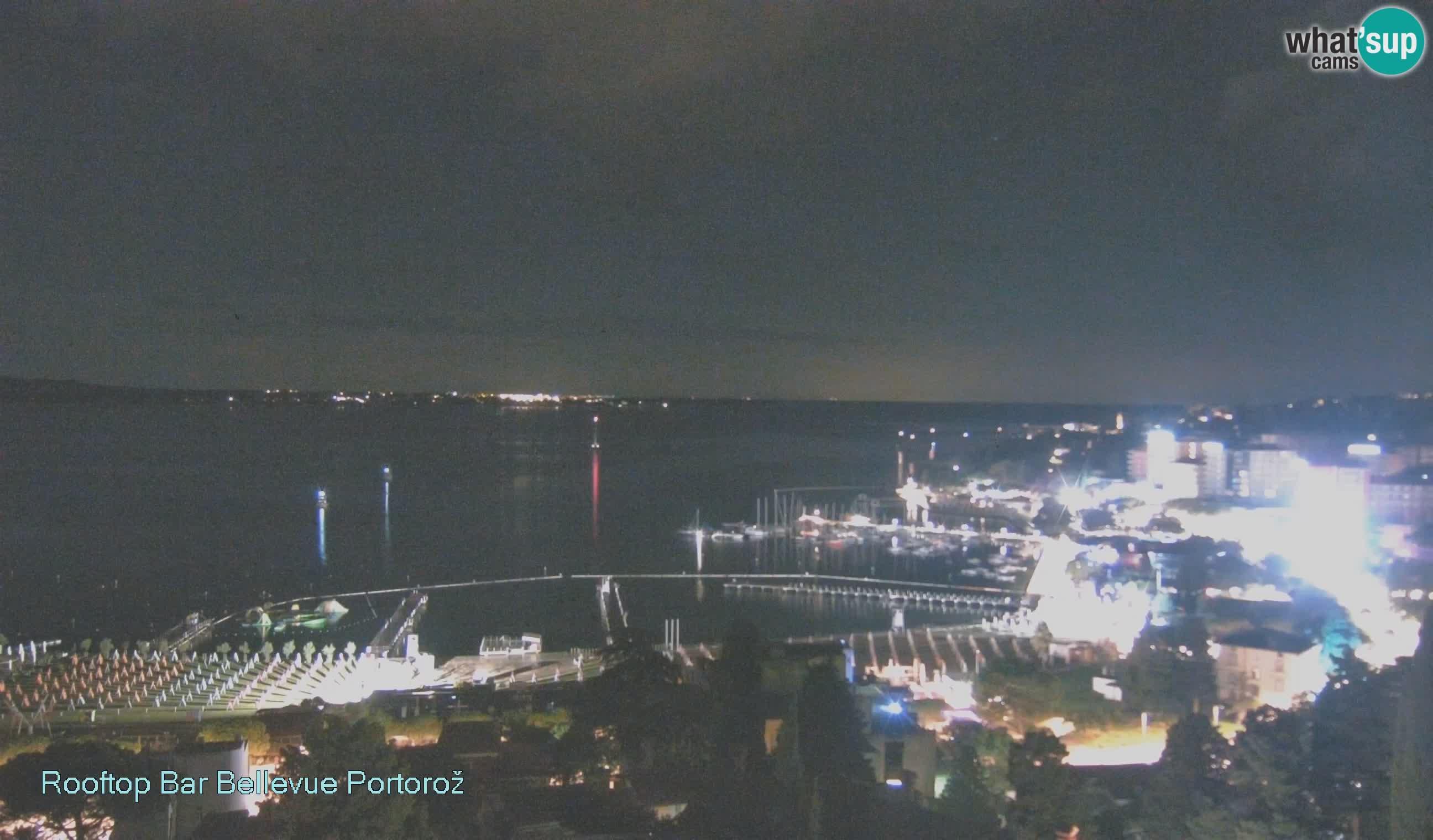 Portorož spletna kamera – pogled z Villa Bellevue