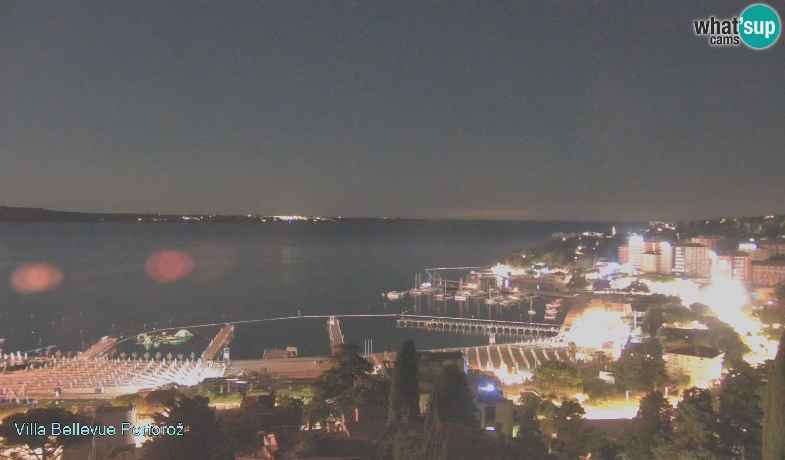 Portorož camera en vivo – Panorama Villa Bellevue