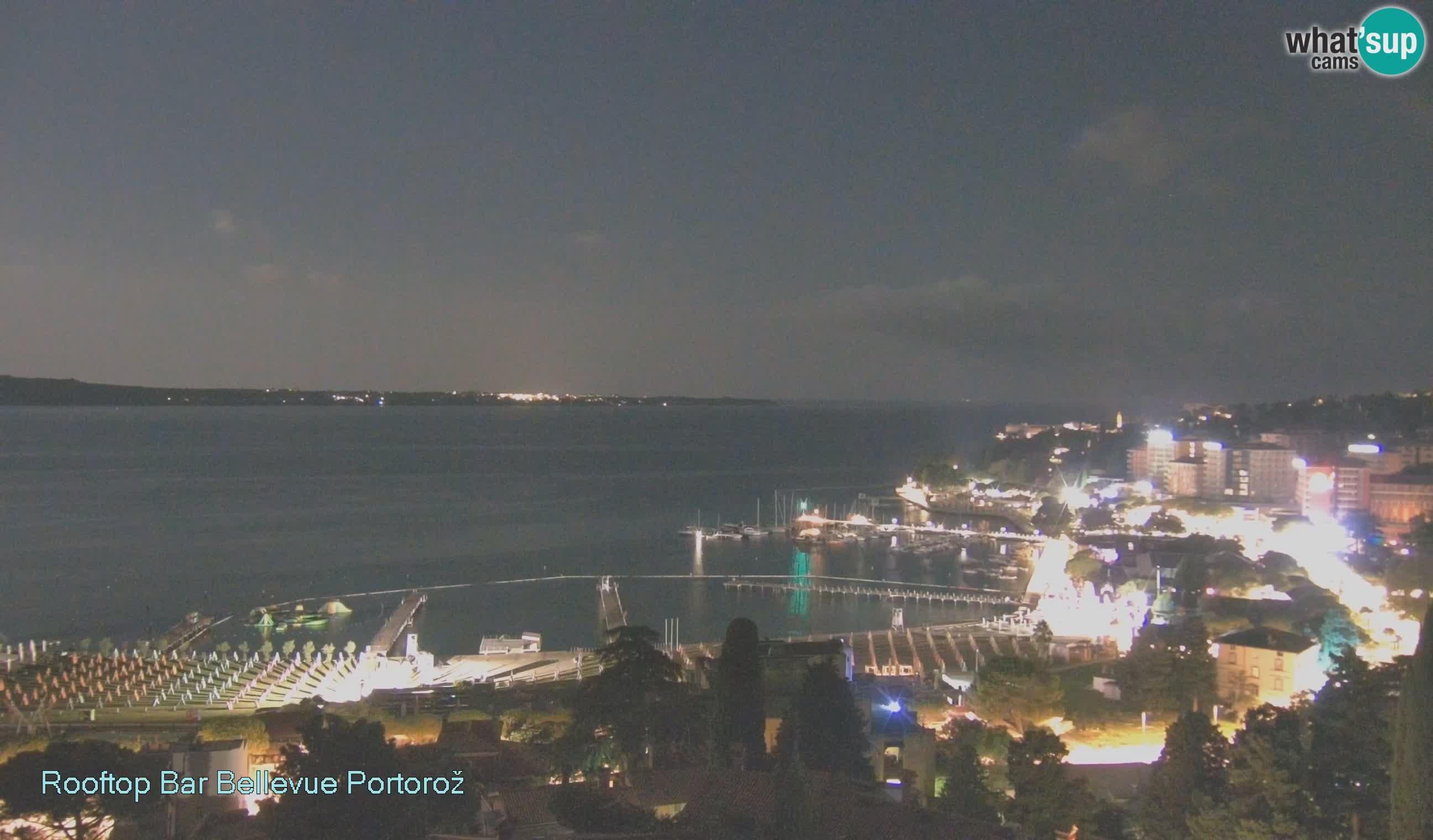 Live webcam Portorož – Panorama dalla Villa Bellevue