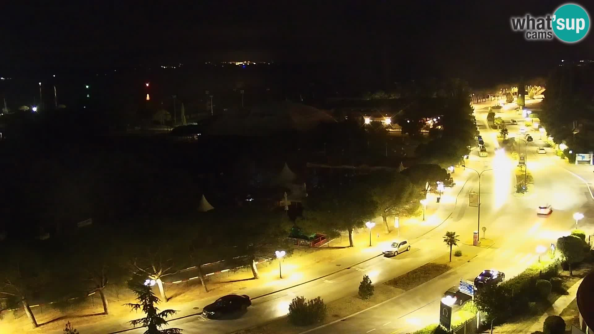 Portorož camera en vivo – vista del puerto deportivo y las canchas de tenis