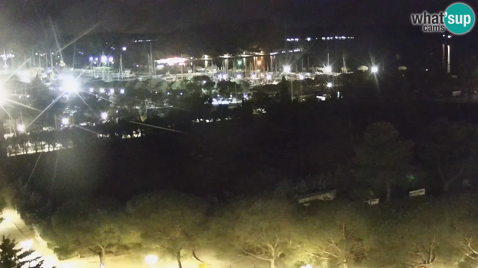 Portorose Live Webcam – vista sulla marina e i campi da tennis