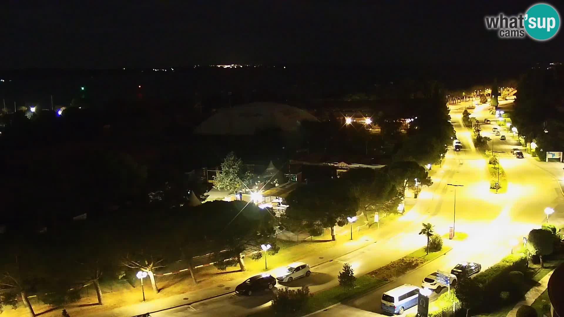 Portorož web kamera – pogled na marinu i teniške terene