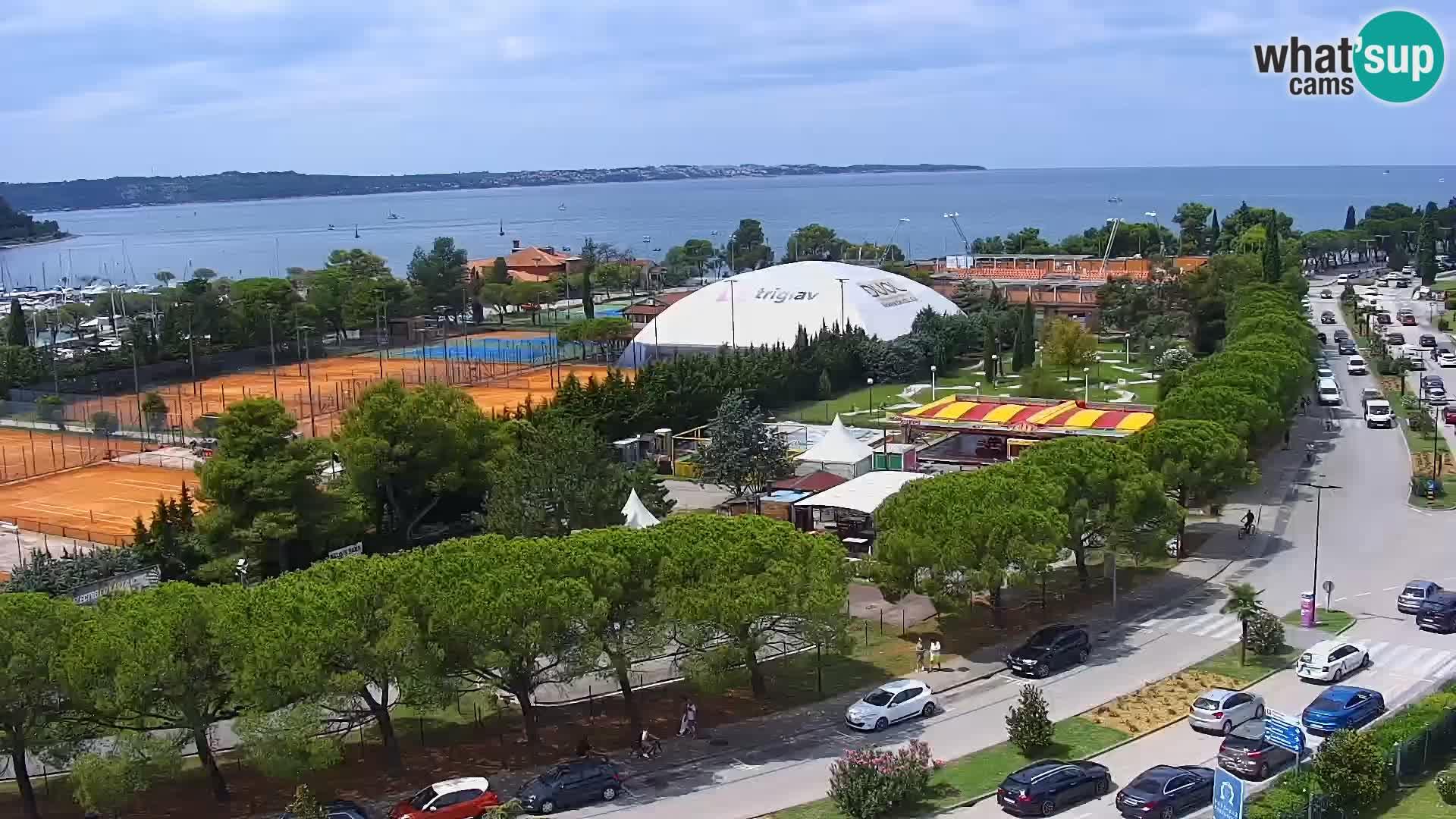 Marina di Portorose e il golfo di Piran