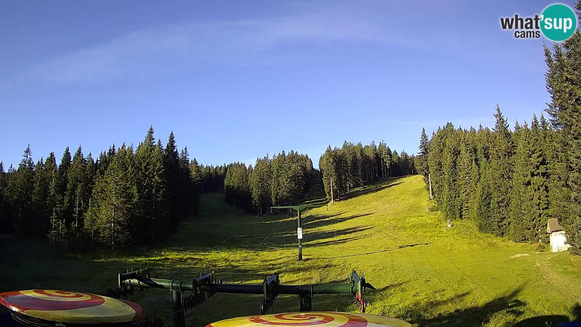 Skijalište Rogla web kamera Ostruščica proga 1 in 2