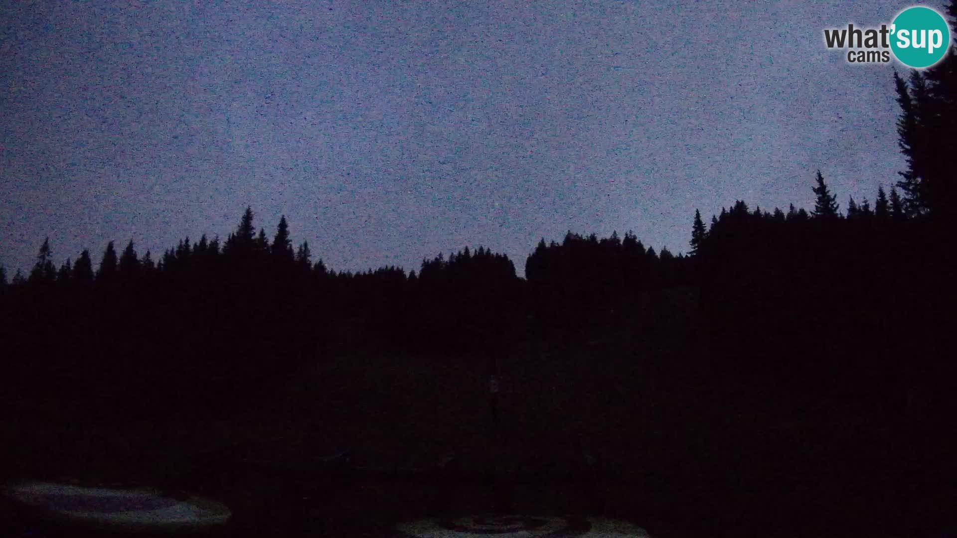 Smučišče Rogla Spletna kamera Ostruščica proga 1 in 2