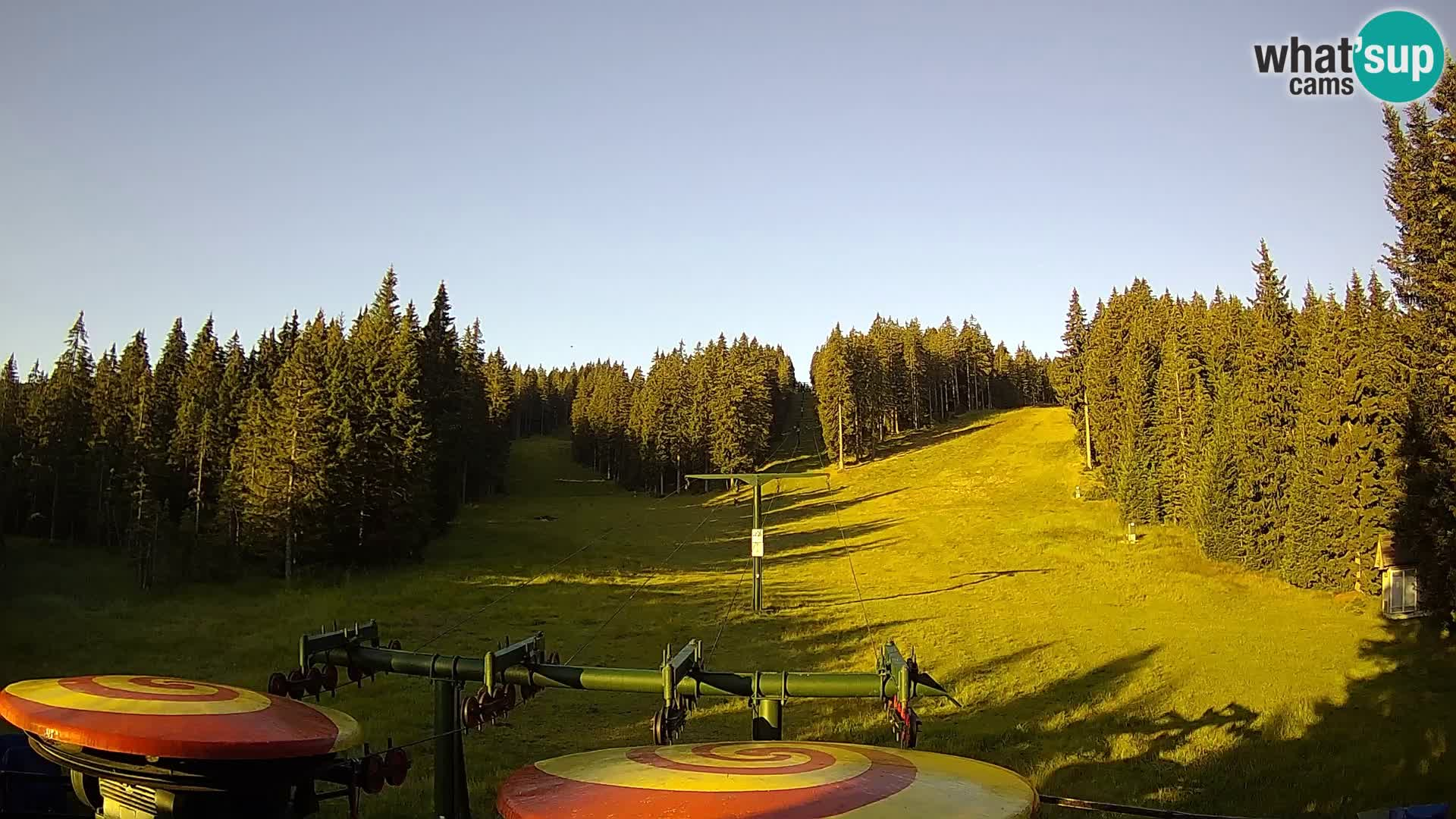Skigebiet Rogla Webcam Ostruščica Piste 1 und 2