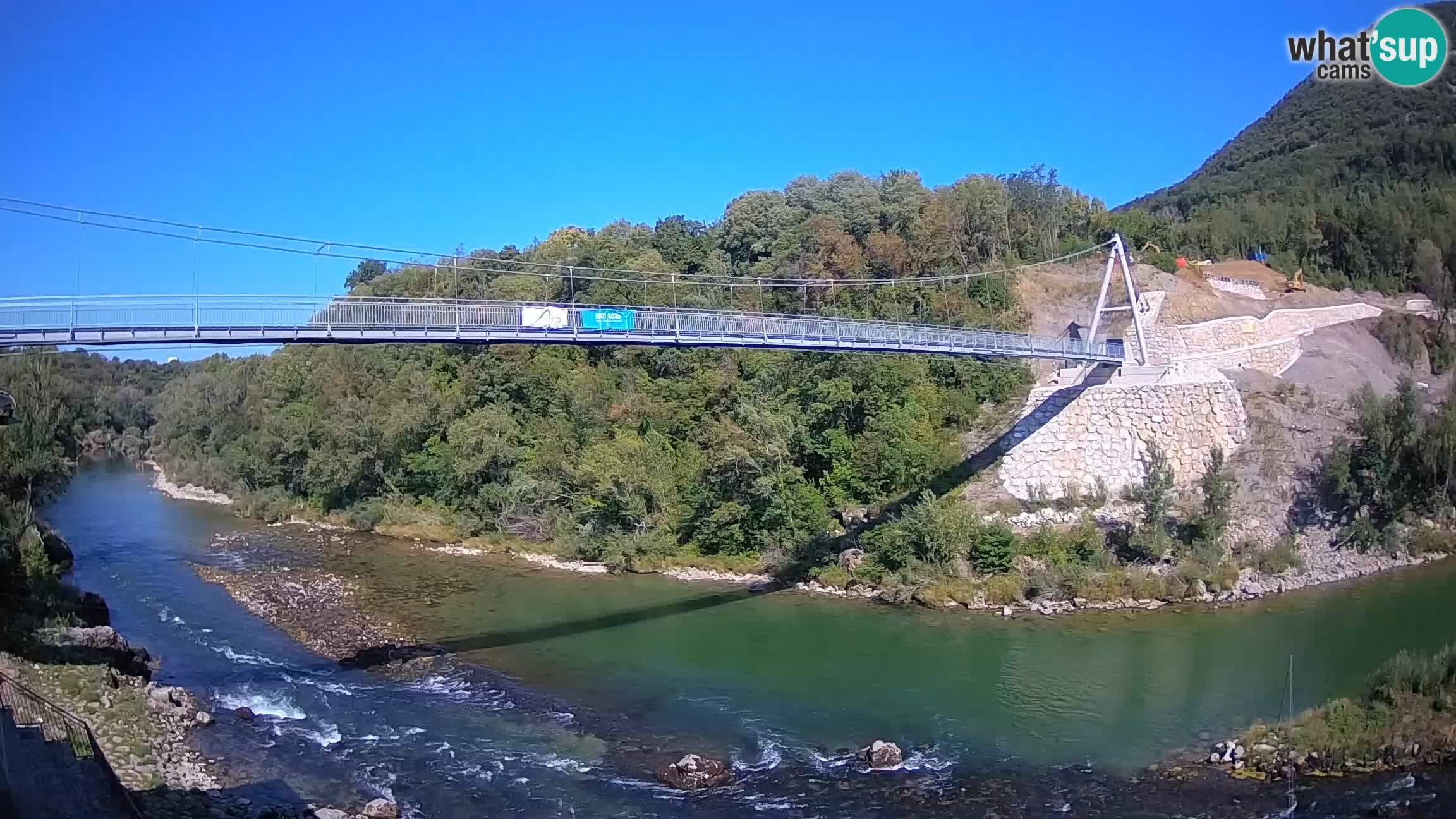 Webcam Soča River – Solkan – Building the bicycle bridge