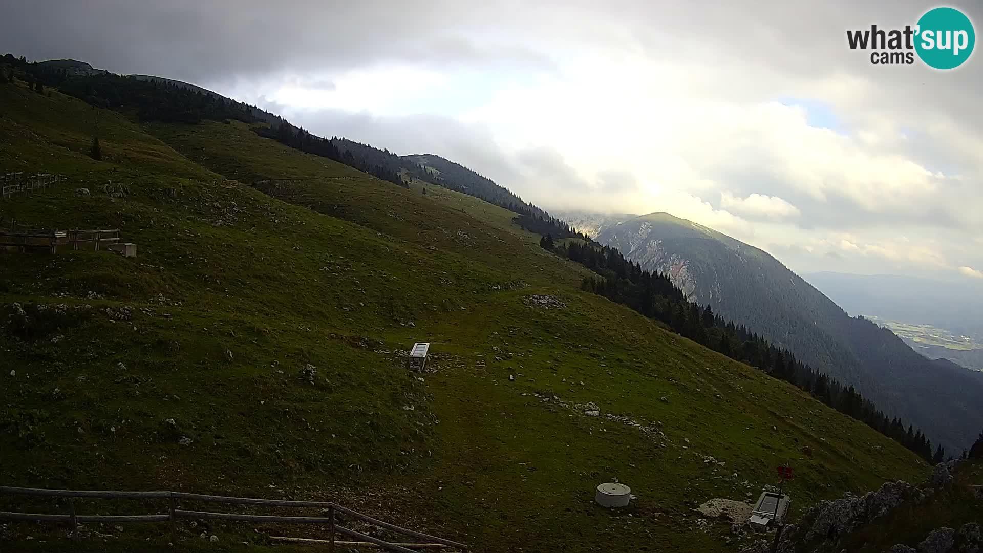 Struška nad Jesenicami Live webcam planina Svečica (Belška planina) – Karavanke – Slovénie