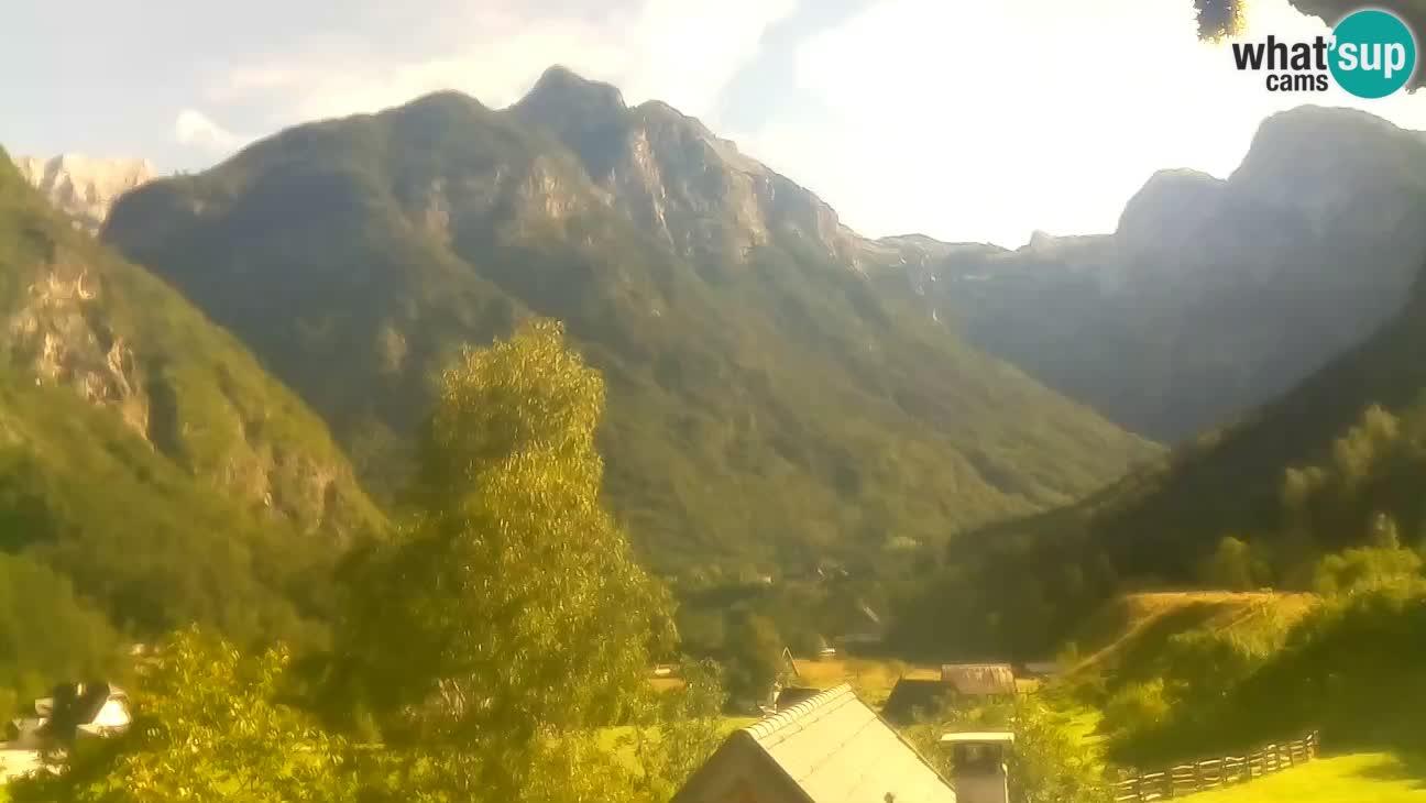 Web kamera Trenta – Pogled na Šplevt, Pihavec i Prisojnik