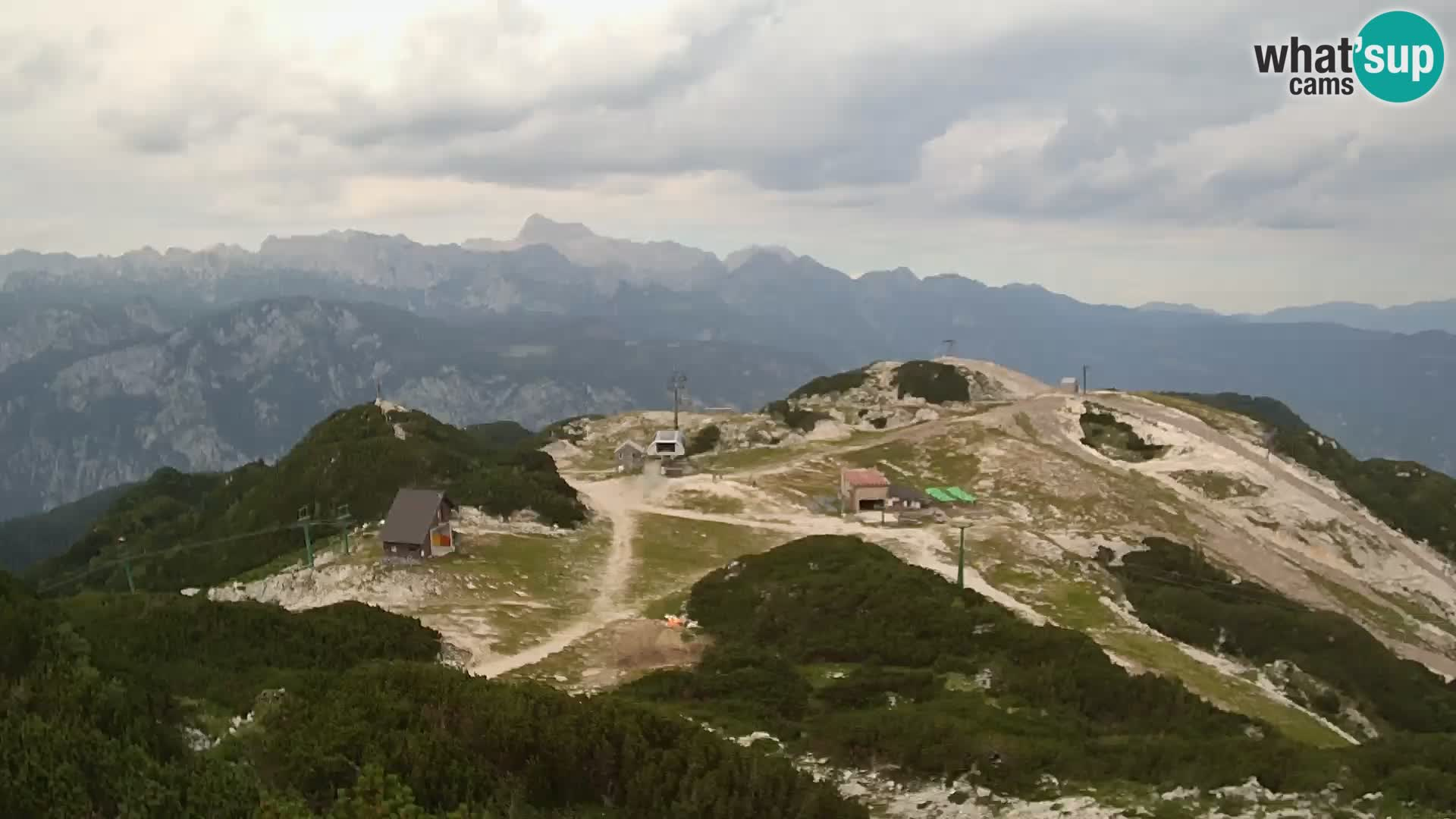 Skijalište Vogel – panorama sa Orlove glave proti Triglavu
