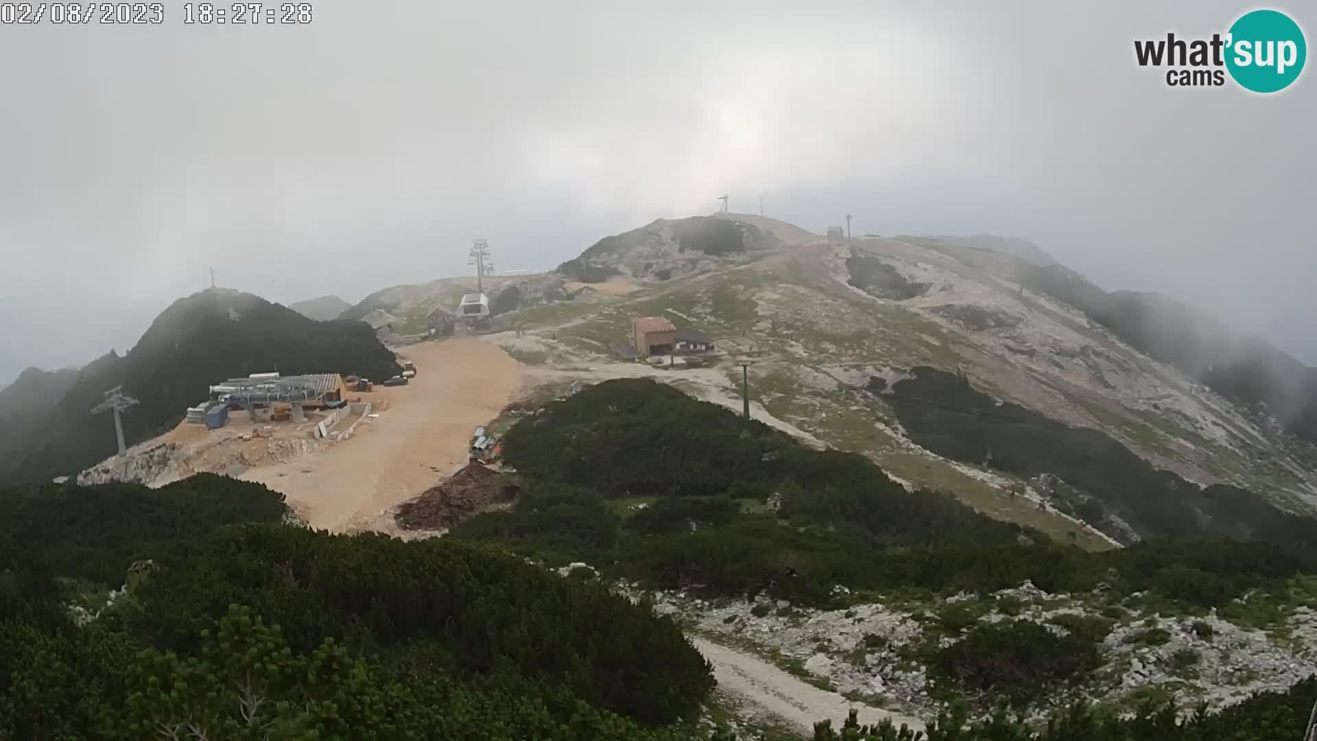 Skijalište Vogel web kamera panorama sa Orlove glave proti Triglavu