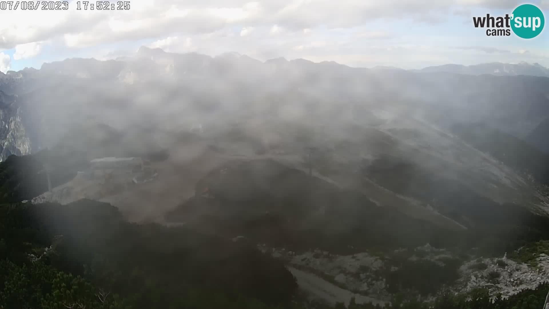Stazione sciistica Vogel webcam Panorama dalla Orlova glave verso il Triglav