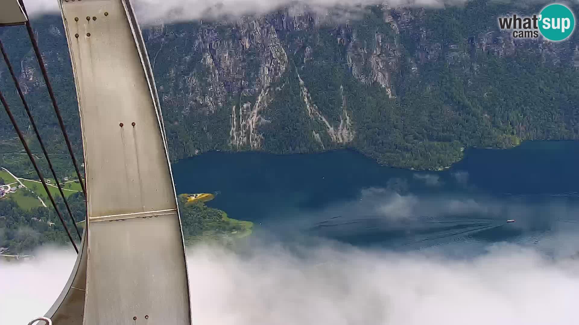 Webcam lac de Bohinj et Triglav – vue depuis la station de ski de Vogel